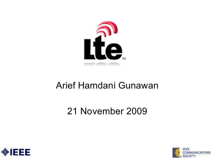Arief Hamdani Gunawan 21 November 2009
