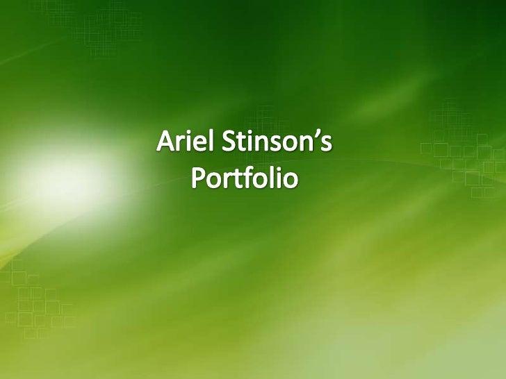 Ariel Stinson Porfolio