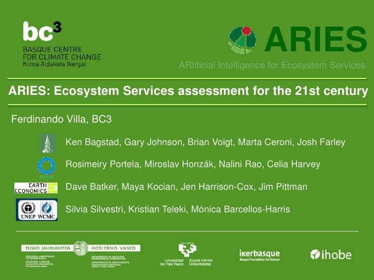 ARIES                                        ARtificial Intelligence for Ecosystem ServicesARIES: Ecosystem Services asses...