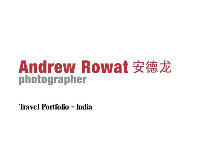 Travel Portfolio - India