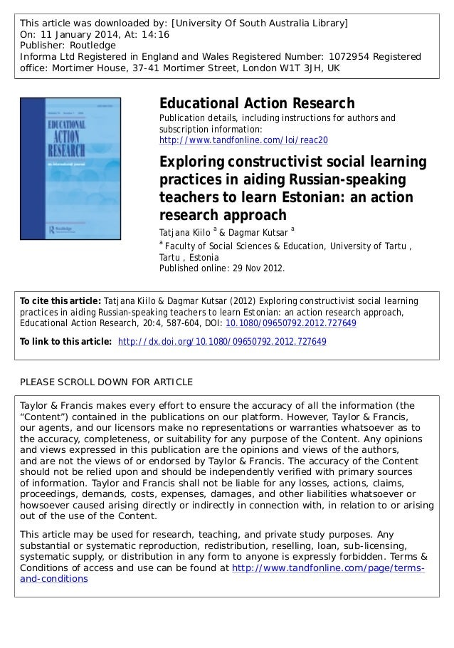 Action Research in language education