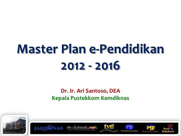 Master Plan e-Pendidikan 2012 - 2016