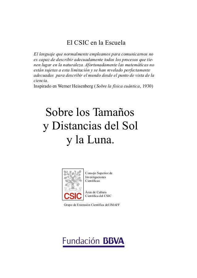 El CSIC en la EscuelaEl lenguaje que normalmente empleamos para comunicarnos noes capaz de describir adecuadamente todos l...