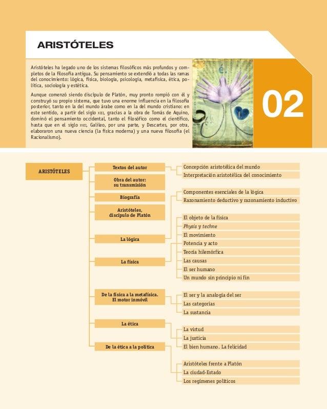 Aristóteles ha legado uno de los sistemas filosóficos más profundos y com pletos de la filosofía antigua. Su pensamiento ...