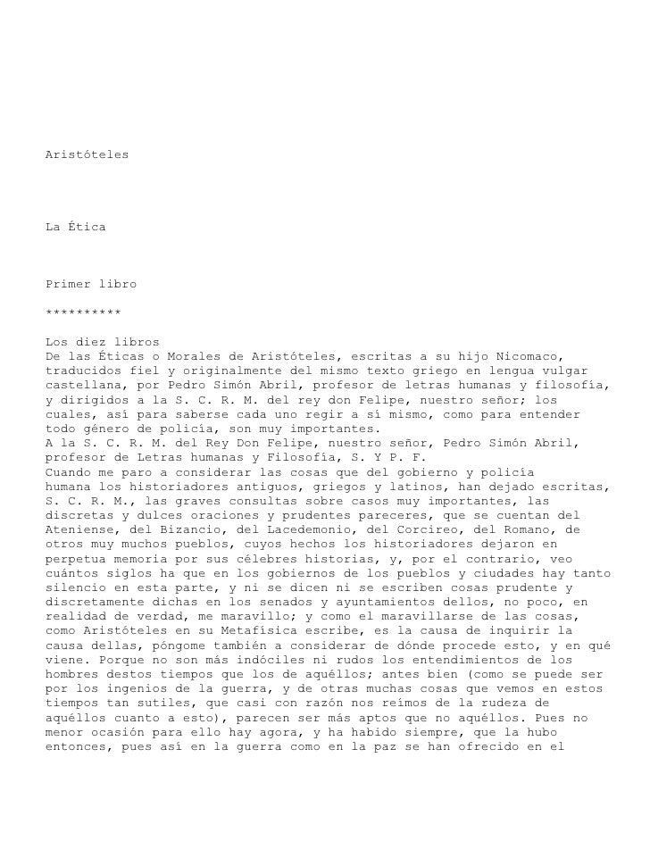 Aristoteles  -etica_a_nicomaco