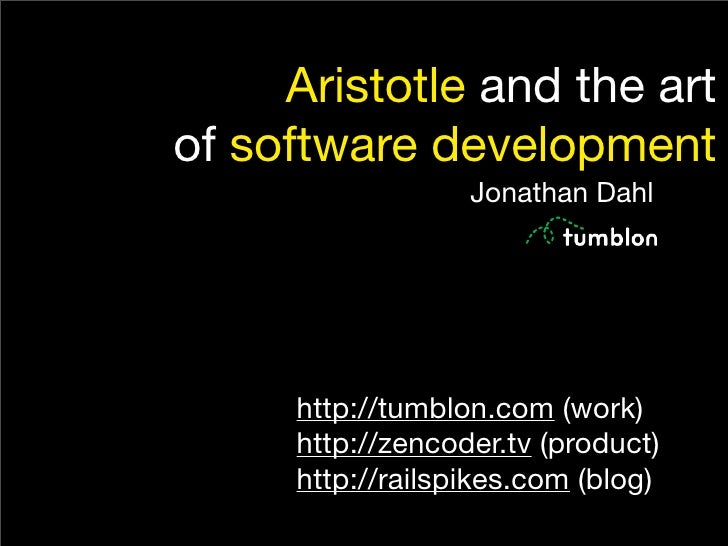 Aristotle and the Art of Software Development