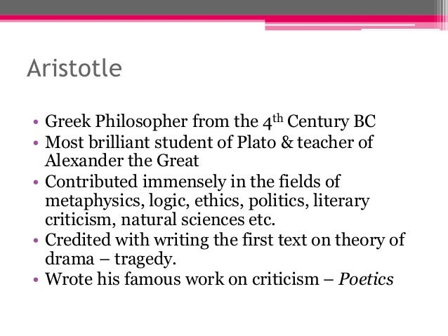 an analysis of tragedy in aristotle Plot, character, thought, diction - an analysis of hamlet under aristotle's theory on tragedy.