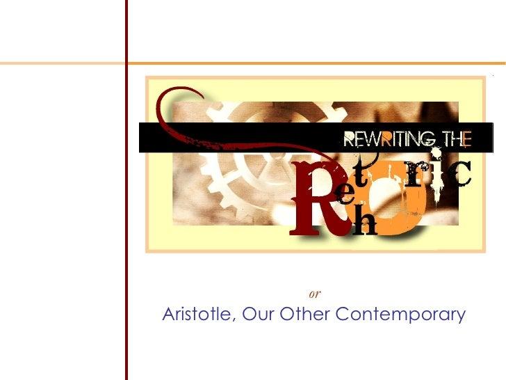 Aristotle, the Rhetoric, Book I