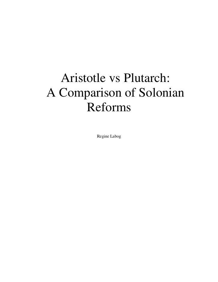 Aristotle vs plutarch   a comparison of solonian reform