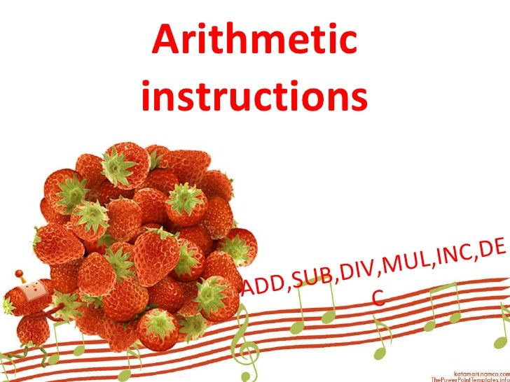 arithmetic ins in 8051