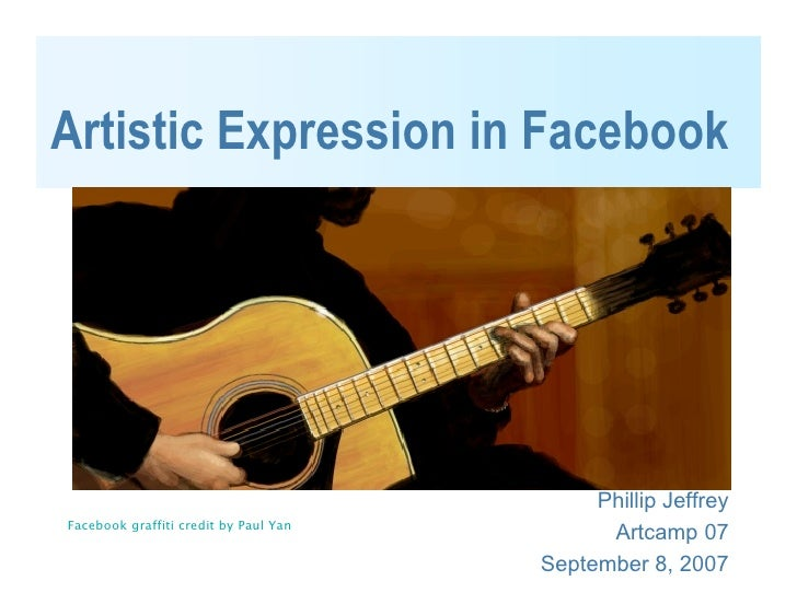 Artistic Expression in Facebook