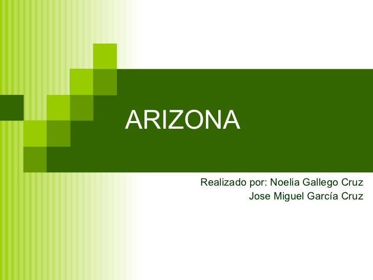ARIZONA Realizado por: Noelia Gallego Cruz Jose Miguel García Cruz