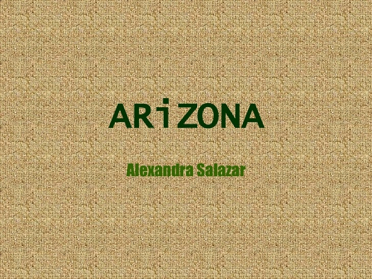 ARiZONA Alexandra Salazar