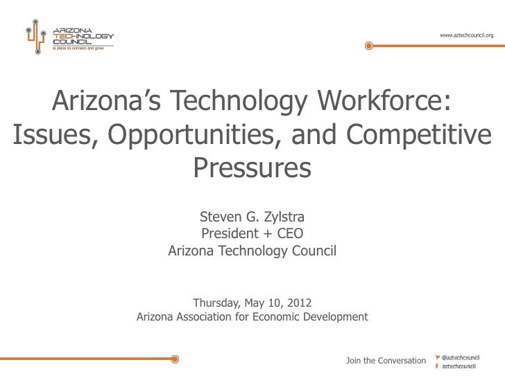 Arizona's Technology Workforce:Issues, Opportunities, and Competitive               Pressures                   Steven G. ...