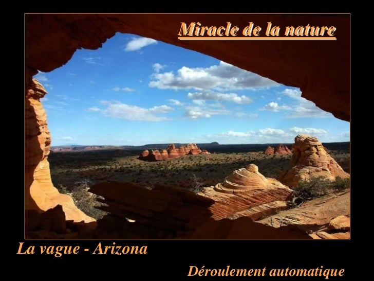 Miracle de la natureLa vague - Arizona                      Déroulement automatique