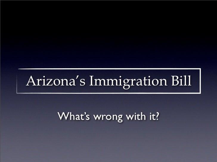 Arizona's Immigration Bill