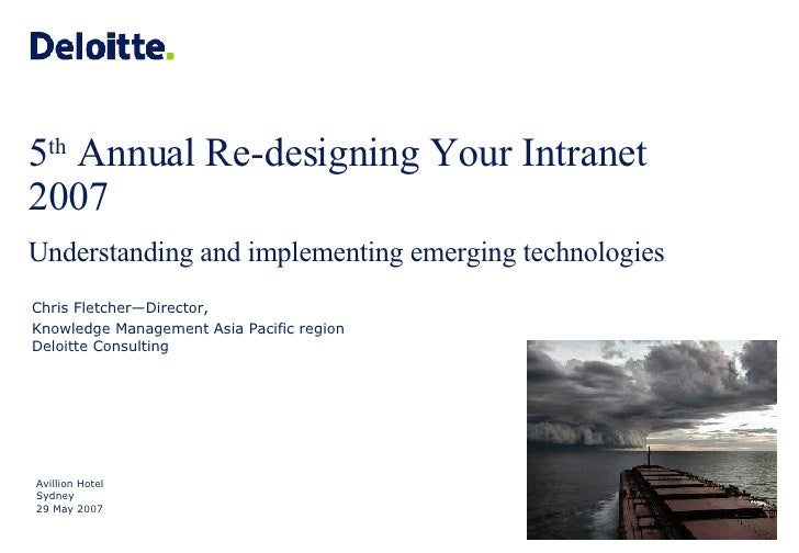 Ark Group: Redesigning your Intranent -  Understanding and implementing Emerging Technologies