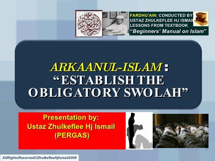 Arkaanul Islam#2 Swolah[Slideshare]