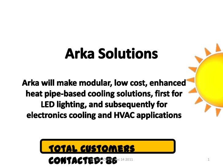 Arka Solutions final NSF I-Corps presentation