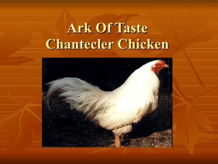 Ark Of Taste Chantecler Chicken