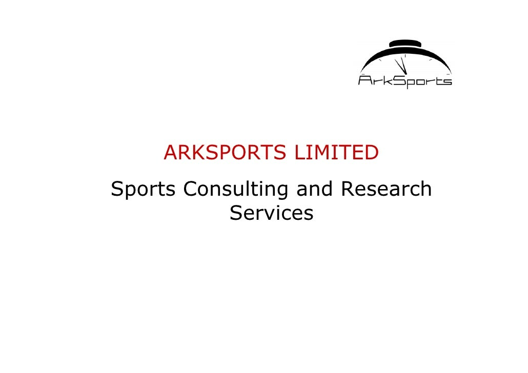 ARKSPORTS LIMITED Sports Consulting and Research            Services