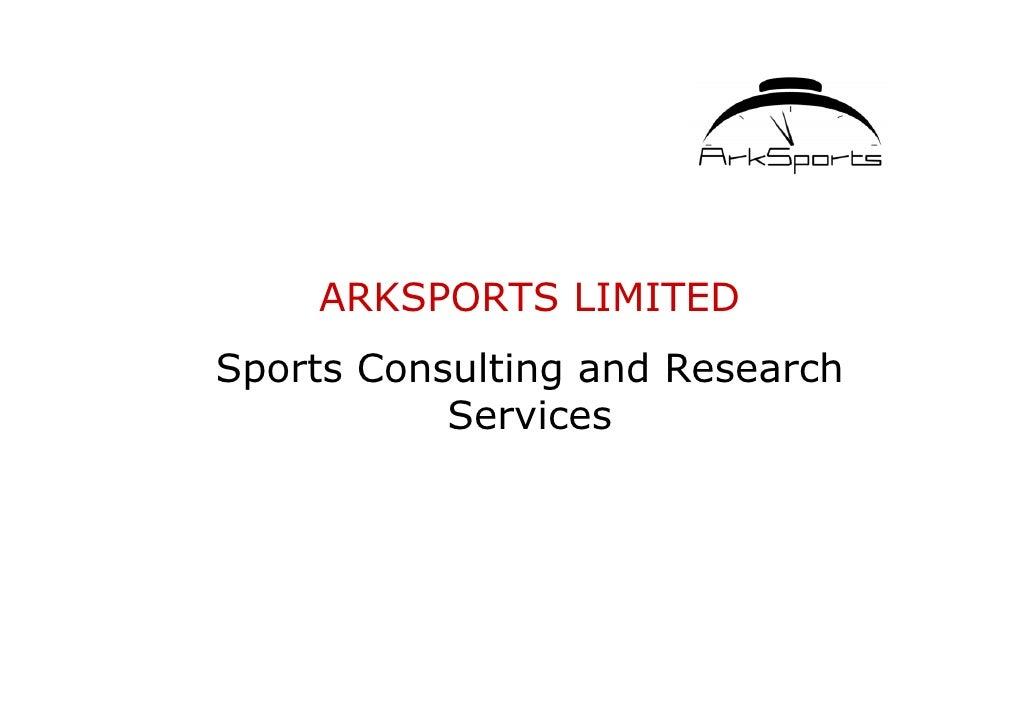 Arksports Presentation 2004v2