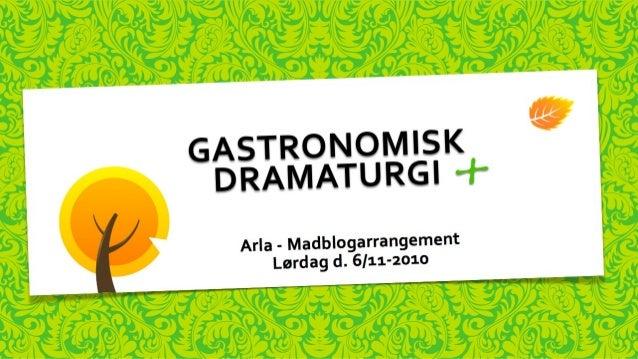 FOOD BLOG SPØRGESKEMA v. 1.0 mediemad Aarhus d. 9 november Kære madblogger, Som aftalt fremsendes hermed ét stk. spørgeske...