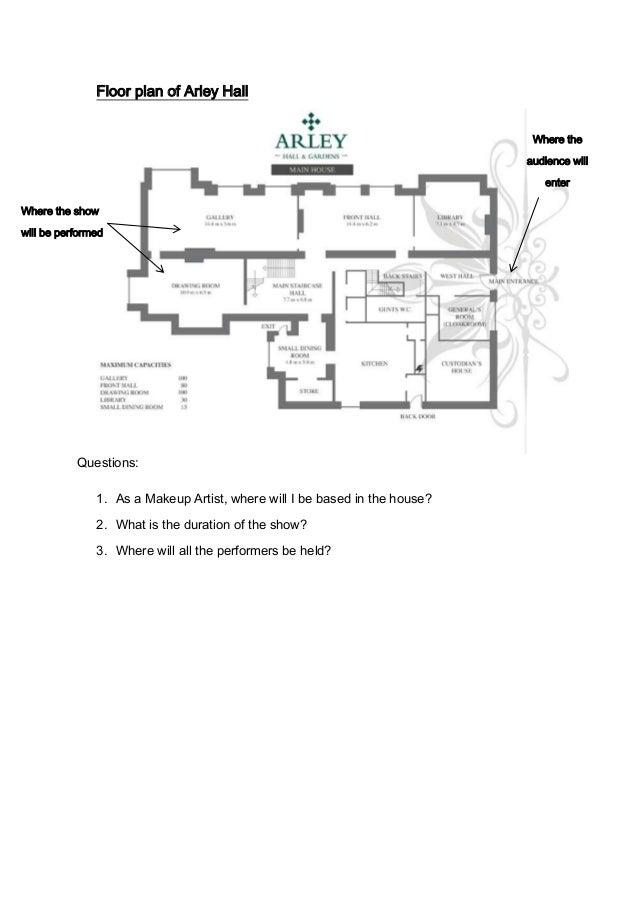 Arley Hall Dance Event Floor Plan