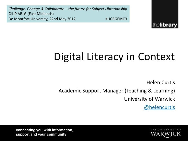 Challenge, Change & Collaborate – the future for Subject LibrarianshipCILIP ARLG (East Midlands)De Montfort University, 22...
