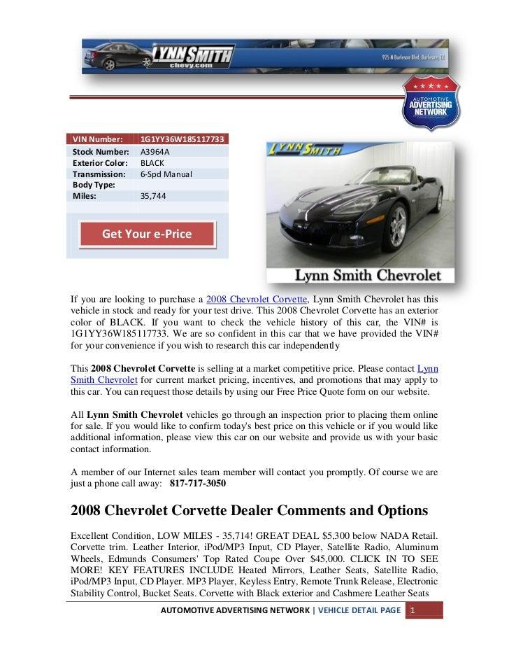 Arlington Chevrolet Corvette For Sale