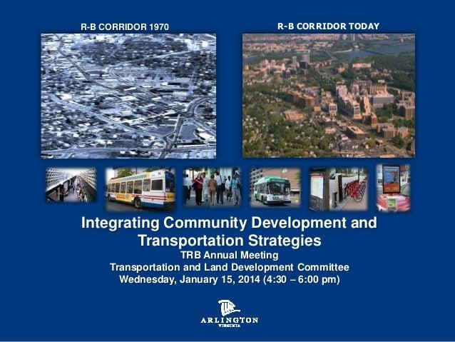 Integrating Community Development and Transportation Strategies