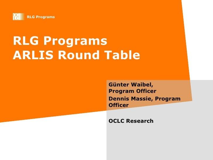 ARLIS Roundtable 2009