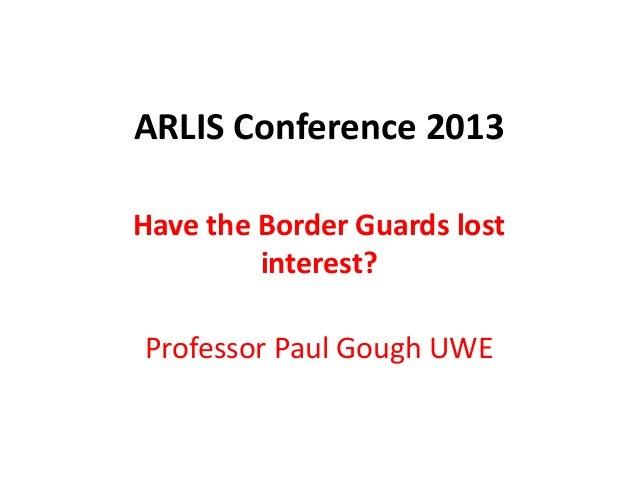 Paul Gough: Keynote Speech