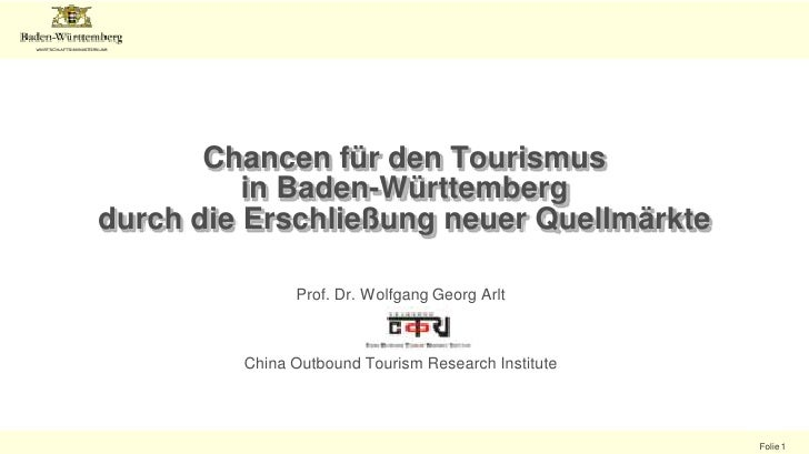 Chinese Outbound Tourism in Germany