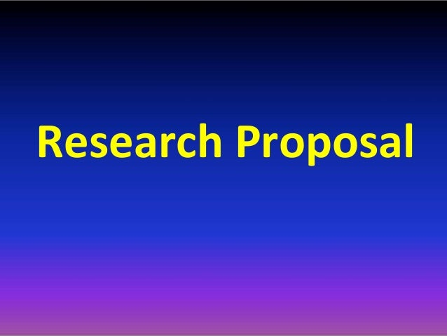Research proposal on technology in education