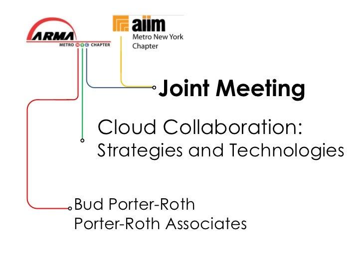 AIIM/ARMA Cloud Collaboration Presentation