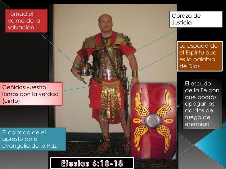 Tomad el yelmo de la salvación<br />Coraza de Justicia<br />La espada de el Espíritu que es la palabra de Dios <br />El es...
