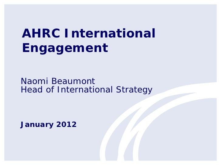 ARMA International Presentation