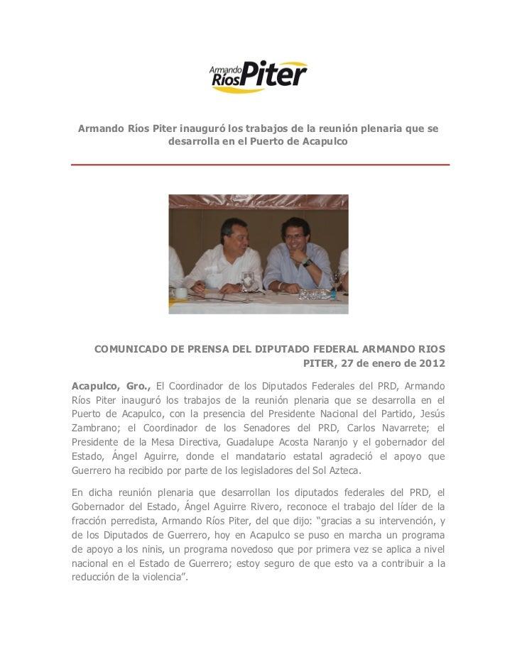 Armando r os piter inaugur los trabajos de la reuni n plenaria que s - Trabajo en el puerto ...