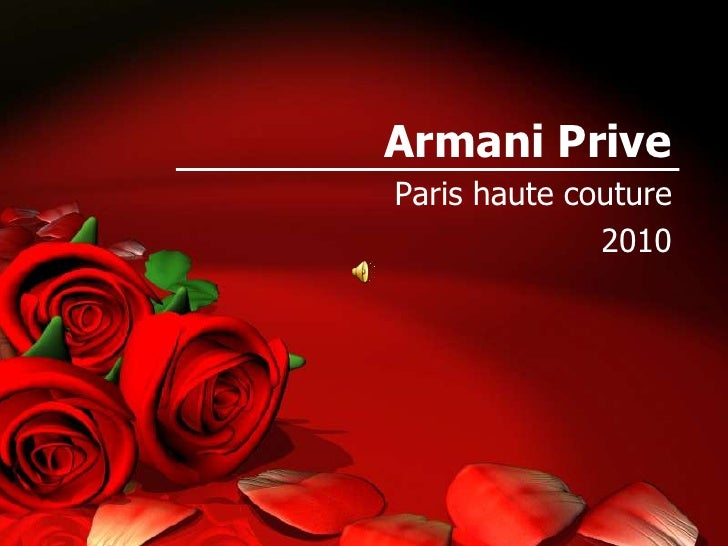 Armani Prive<br />Paris haute couture <br />2010<br />