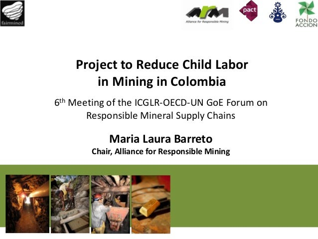 Project to Reduce Child Labor in Mining in Colombia 6th Meeting of the ICGLR-OECD-UN GoE Forum on Responsible Mineral Supp...