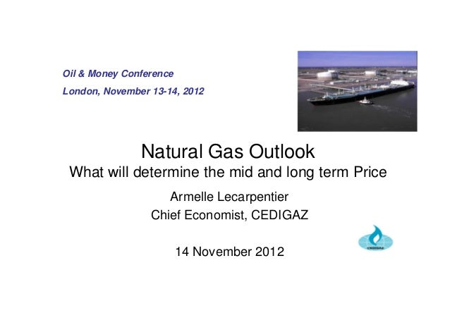 Natural Gas Outlook What will determine the mid and long term Price Armelle Lecarpentier Chief Economist, CEDIGAZ 14 Novem...