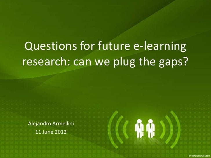 Armellini Future Research Questions elearning