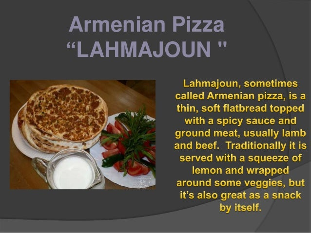 "National Dishes_Armenian Pizza ""LAHMAJOUN"