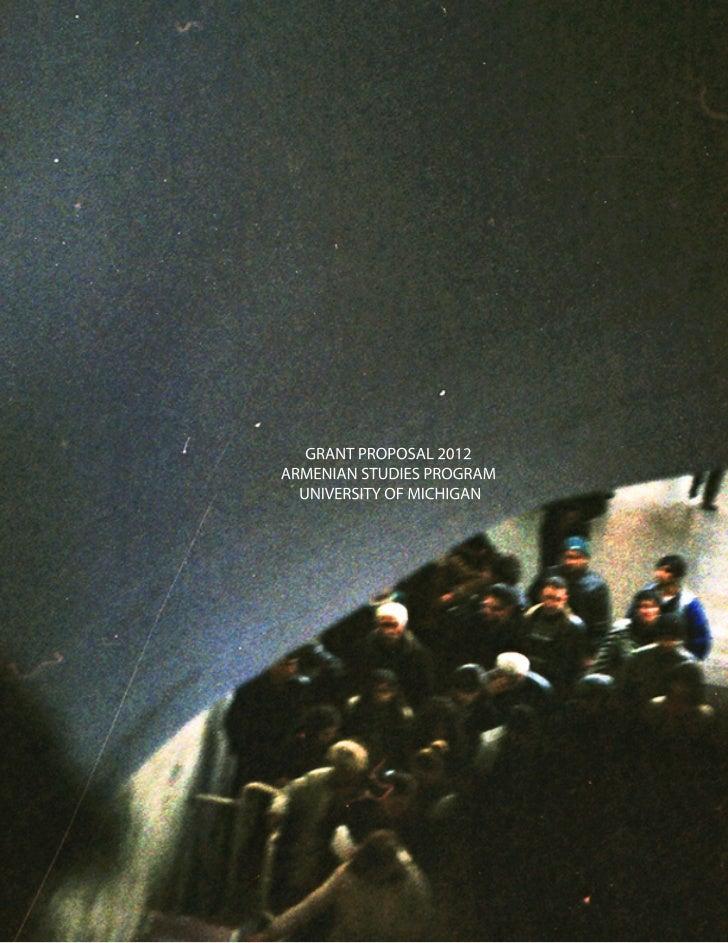 Armenia Film Proposal 2012