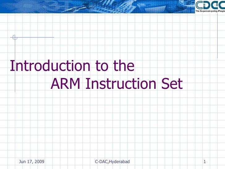 ARM Fundamentals