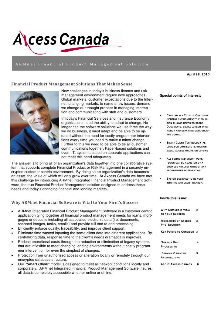 ARMnet Financial Management Software News