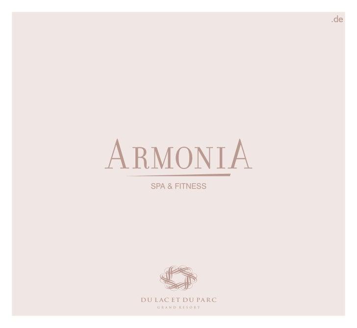 ArmoniA Beauty Spa - Brochure 2011 Du Lac et Du Parc Grand Resort