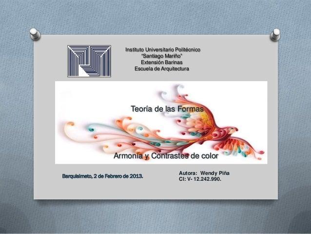 """Instituto Universitario Politécnico                                   """"Santiago Mariño""""                                   ..."""