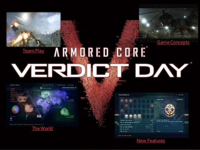 Armored Core Verdict Day User Guide